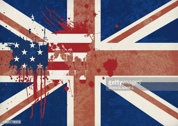 uk and usa flag abstract - uk politics stock pictures, royalty-free photos & images