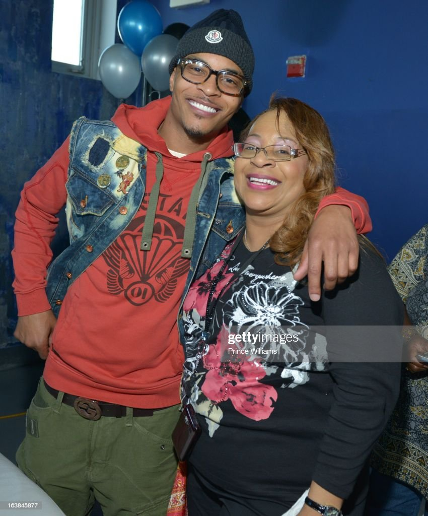 T.I. and Violeta Morgan attend Domani Harris's birthday celebration at Indigo on March 16, 2013 in Toronto, Canada.