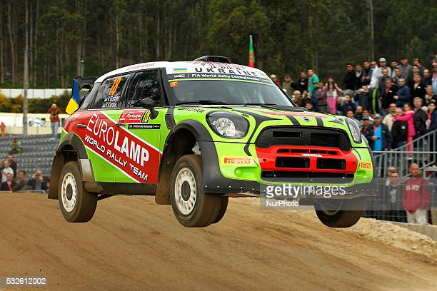 GORBAN and VOLODYMYR KORSIA in BMW MINI JOHN COOPERS in action during the shakedow of the WRC Vodafone Rally Portugal 2016 in Matosinhos Portugal on...