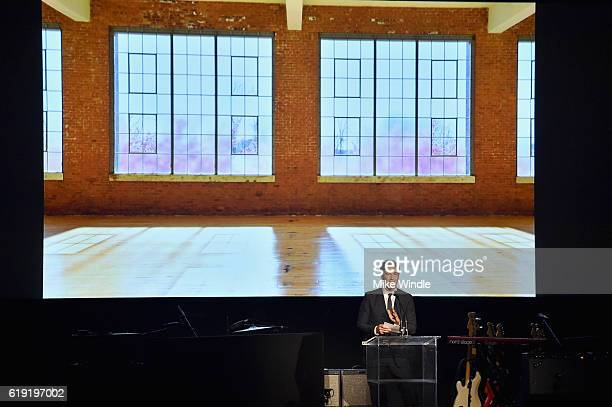 CEO and Wallis Annenberg Director of LACMA Michael Govan speaks onstage during the 2016 LACMA Art Film Gala Honoring Robert Irwin and Kathryn Bigelow...