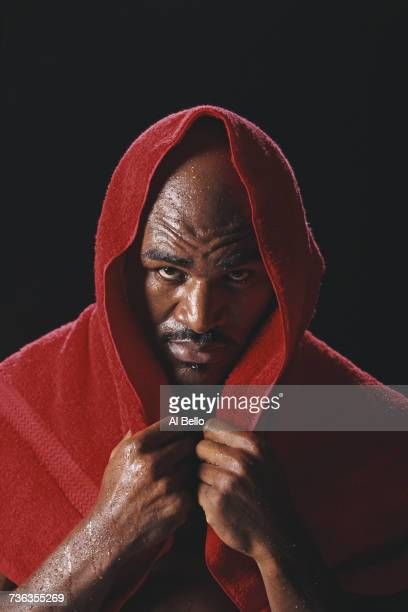 IBF and WBA World Heavyweight Boxing Champion Evander Holyfield of the United States poses for a portrait on 29 December 1997 in Atlanta Georgia...