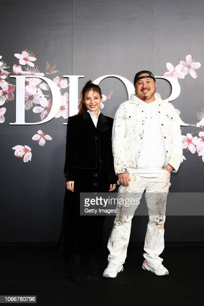 And wife attend the photocall at the Dior Pre Fall 2019 Men's Collection on November 30, 2018 in Tokyo, Japan.