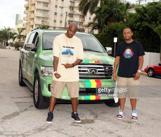GLC and Woodie White LRG Brand Mng during 2005 MTV VMA John Singelton Party Hosted by DJ Biz Markie and Snoop Dogg at Sanctuary Hotel in Miami...