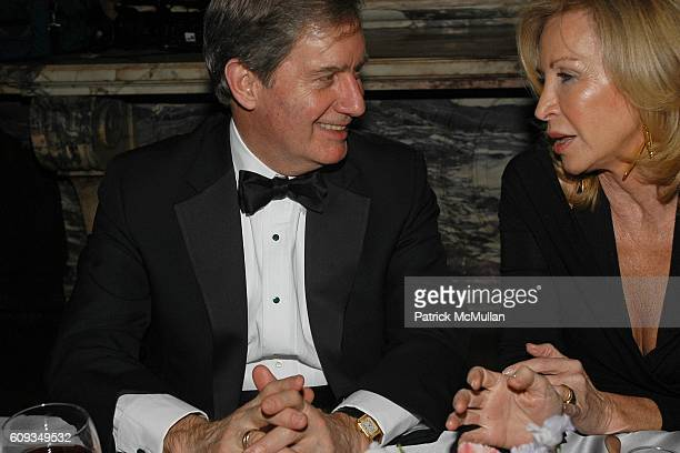 and Yanna Avis attend Madame Jacques Chirac Madame Georges Pompidou Mr Ronald Lauder and Mrs Randolph Hearst Host a Private Dinner to Benefit THE...