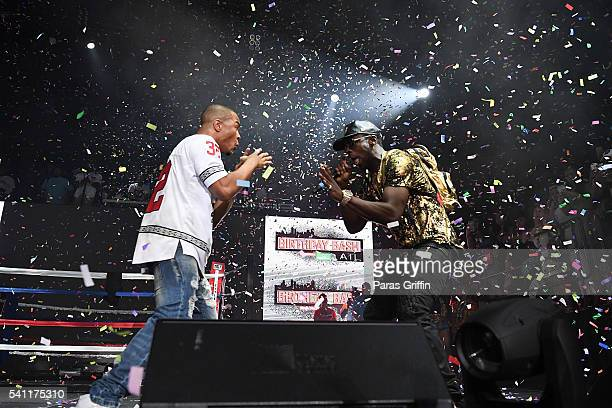 And Young Dro perform onstage at Hot 107.9 Birthday Bash at Philips Arena on June 18, 2016 in Atlanta, Georgia.