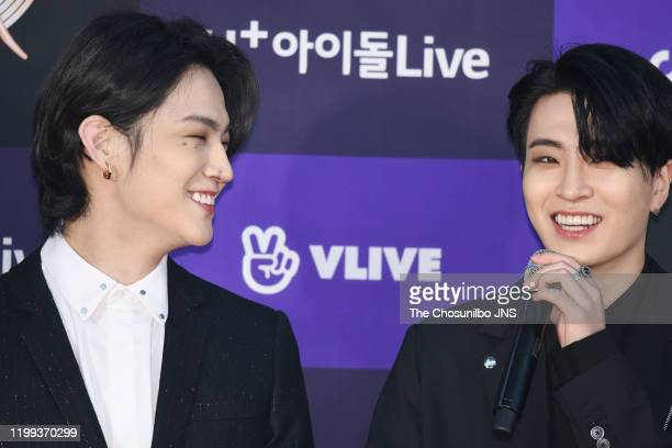 And Youngjae of GOT7 arrives at the photocall for the 34th Golden Disc Awards on January 05, 2020 in Seoul, South Korea.
