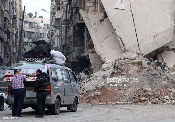 KETZ and ZEIN A minibus loaded with bags is prepared for a ride near a destroyed building in a rebelcontrolled area in the northern Syrian city of...