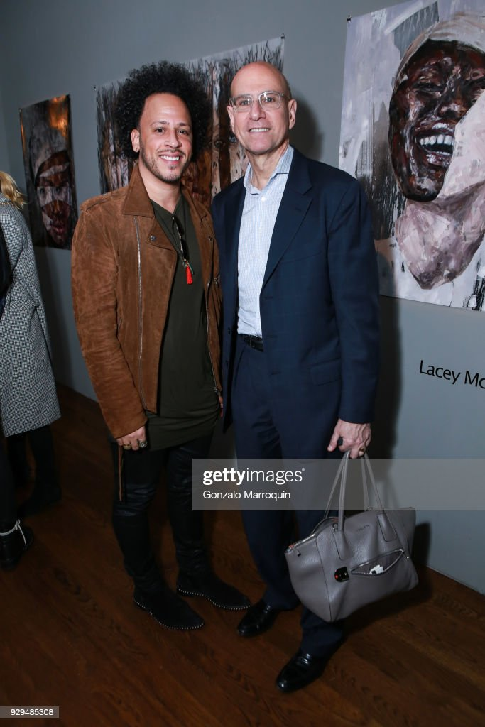Anda Torres and George Hornig during the ArtLeadHER Presents 'Her Time Is Now' at Urban Zen on March 8, 2018 in New York City.