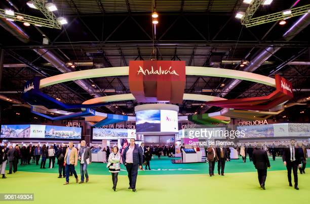 Andalucia stand at FITUR International Tourism Fair 2018 at Ifema on January 17 2018 in Madrid Spain Prime Minister Mariano Rajoy confirmed that...