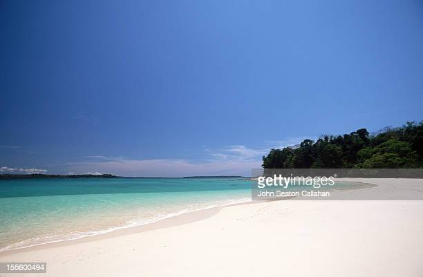 Andaman Islands, Middle Andaman, empty beach.