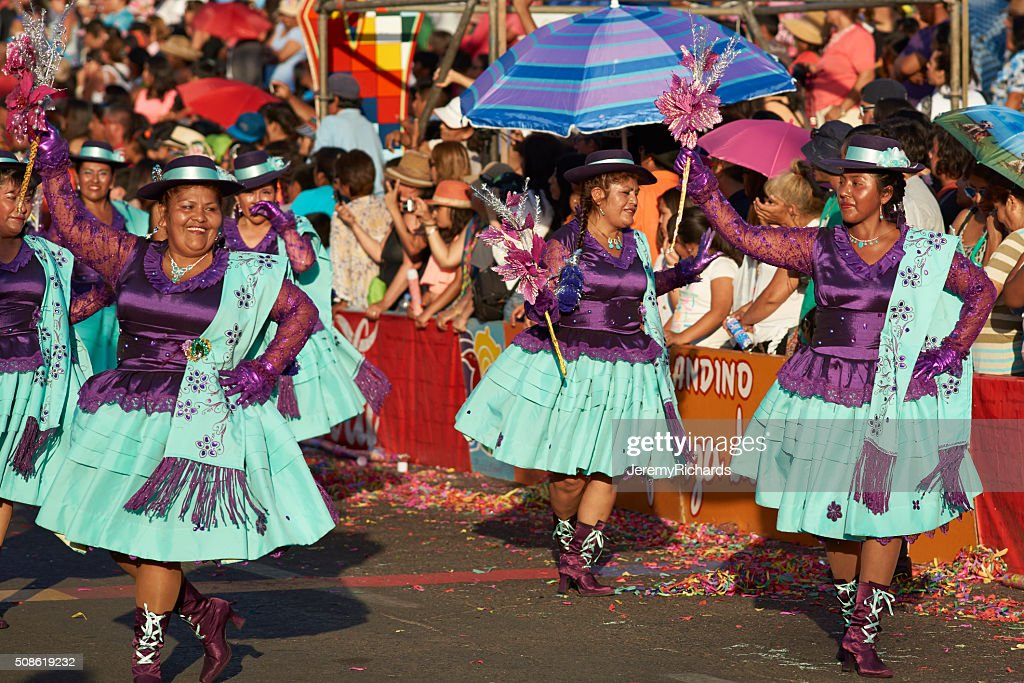 Andean Carnival Dancers : Stock Photo