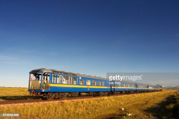 Andean Explorer luxury train from Cusco to Puno Landscape along the Peruvian altiplano Andean Explorer train Orient Express which runs between Cuzco...