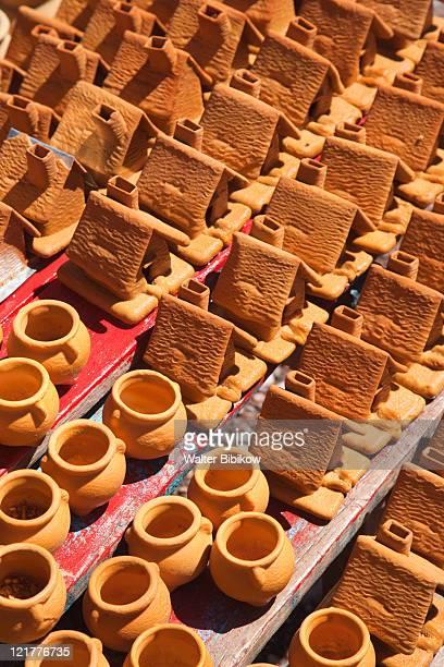 Andean pottery at tourist flea market, Puente del Incas, Mendoza Province, Argentina