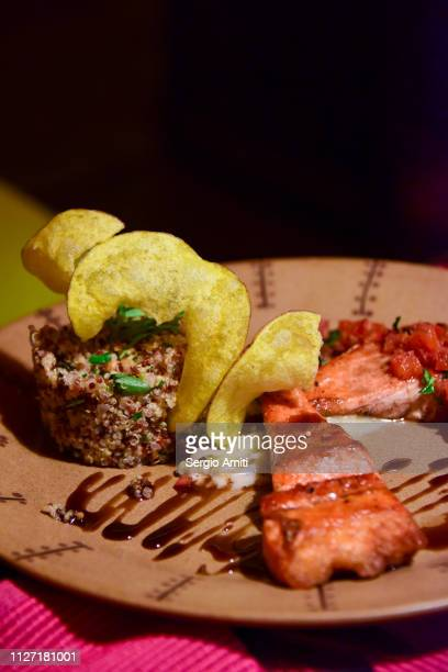 Andean trout with quinoa