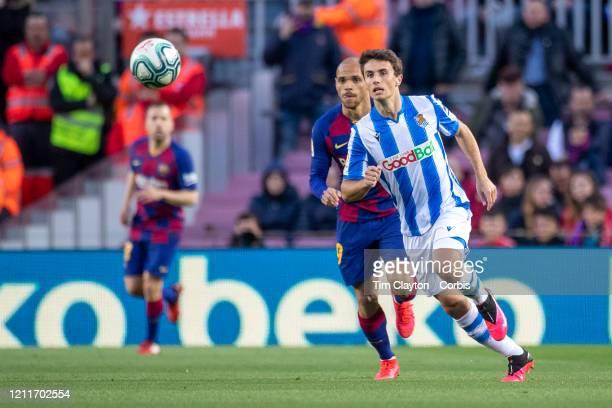 Ander Guevara of Real Sociedad in action during the Barcelona V Real Sociedad La Liga regular season match at Estadio Camp Nou on March 7th 2020 in...