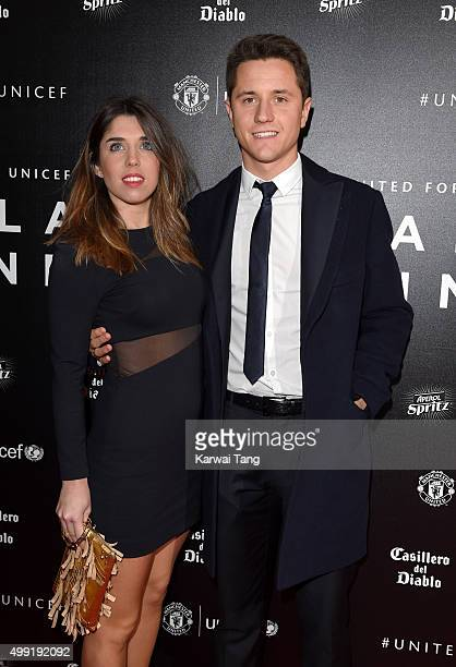 Ander Herrera and Isabel Collado attend the United for UNICEF Gala Dinner at Old Trafford on November 29 2015 in Manchester England