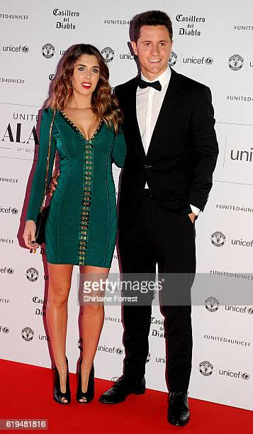 Ander Herrera and Isabel Collado attend the United for Unicef gala dinner at Old Trafford on October 31 2016 in Manchester England