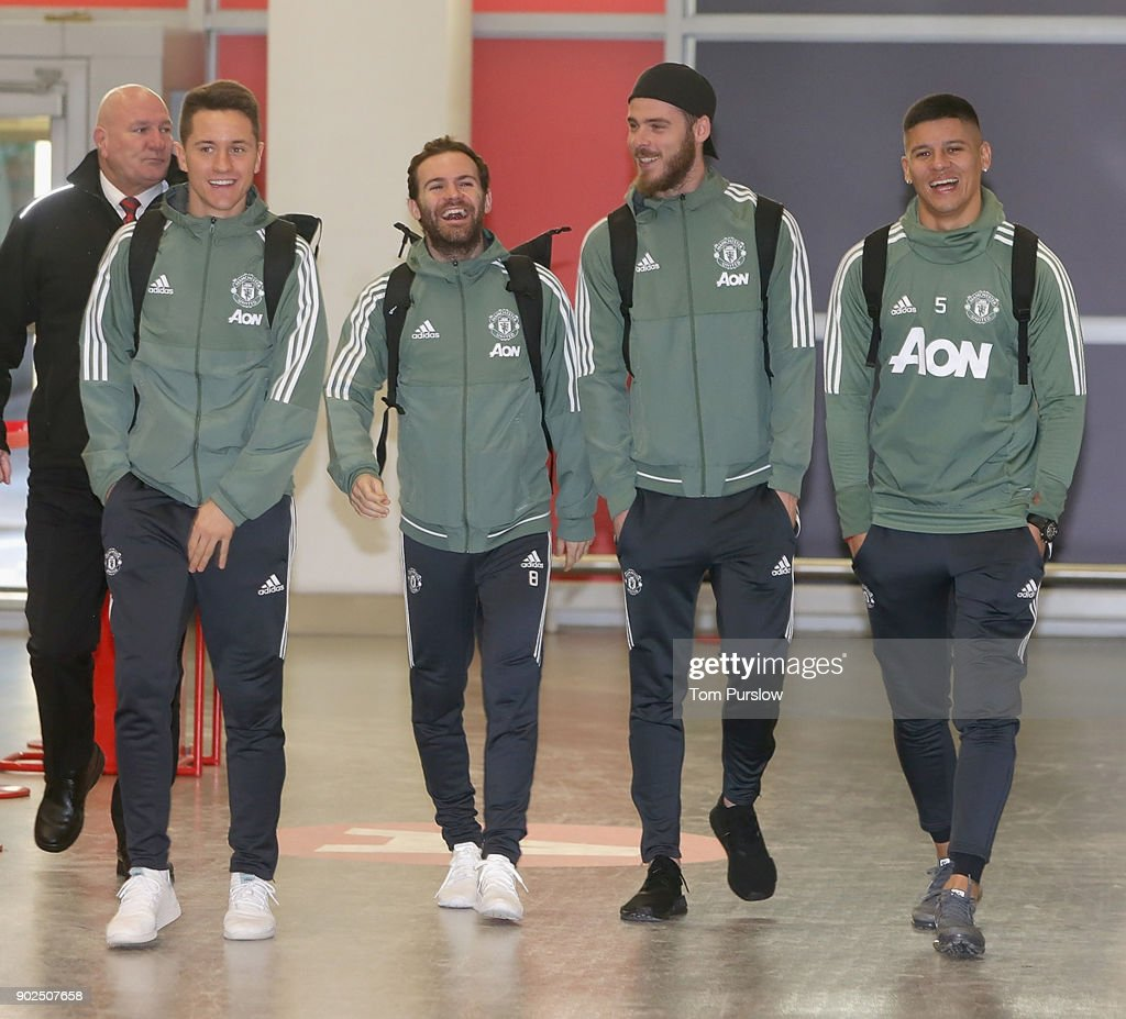 Manchester United Head to Dubai for a Training Camp : News Photo