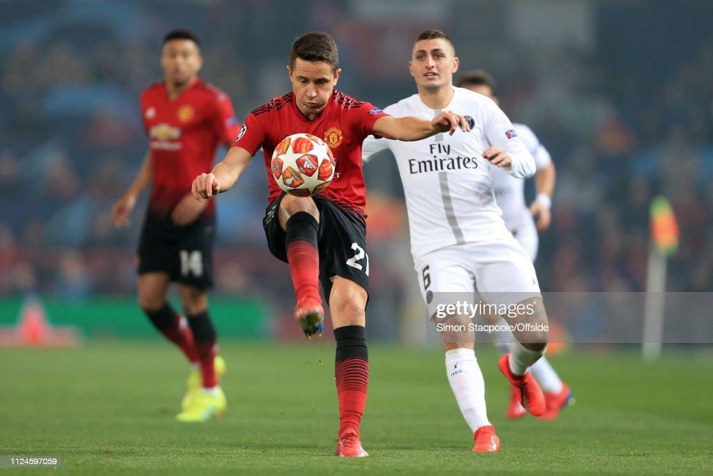 Manchester United v Paris Saint-Germain - UEFA Champions League Round of 16: First Leg : ニュース写真