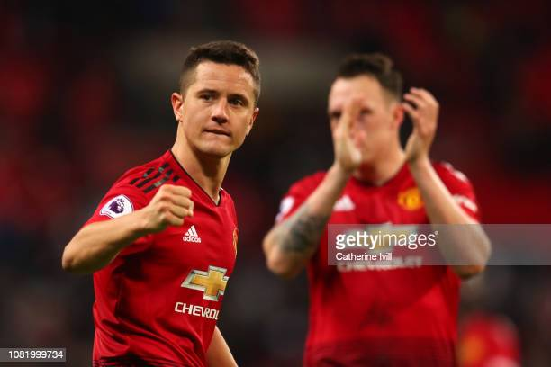 Ander Herrera of Manchester United celebrates after the Premier League match between Tottenham Hotspur and Manchester United at Wembley Stadium on...