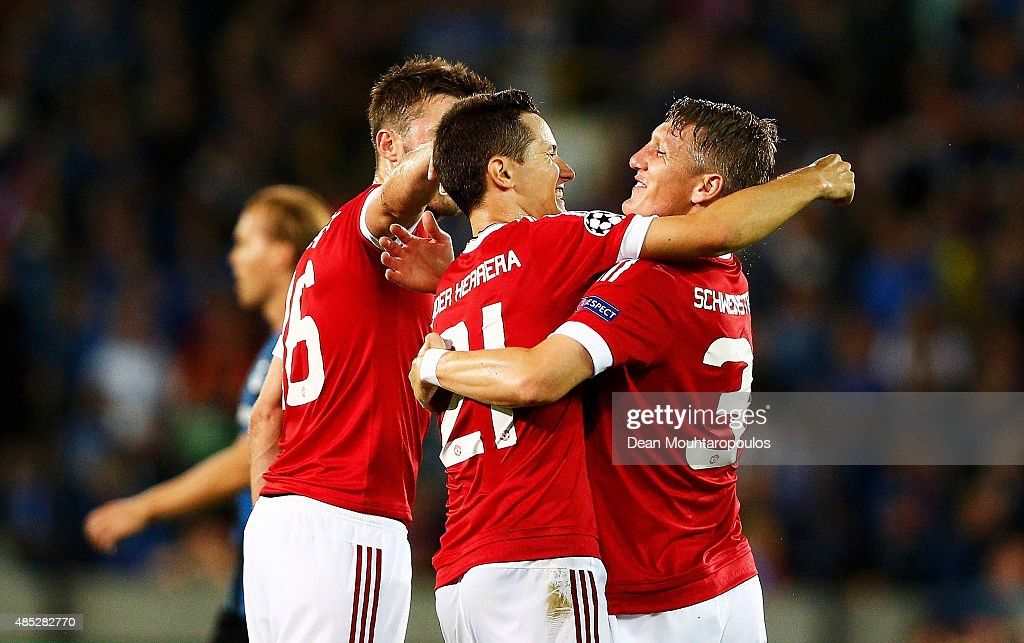 Club Brugge v Manchester United - UEFA Champions League: Qualifying Round Play Off Second Leg : News Photo