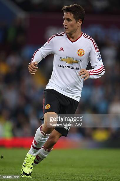 Ander Herrera of Manchester United during the Barclays Premier League match between Aston Villa and Manchester United at Villa Park on August 14 2015...
