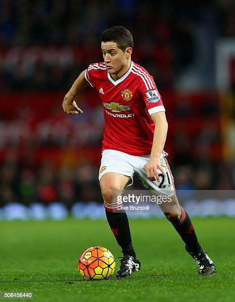 Ander Herrera of Manchester United during the Barclays Premier League match between Manchester United and Southampton at Old Trafford on January 23...