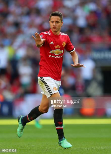 Ander Herrera of Manchester United during The Emirates FA Cup Final between Chelsea and Manchester United at Wembley Stadium on May 19 2018 in London...