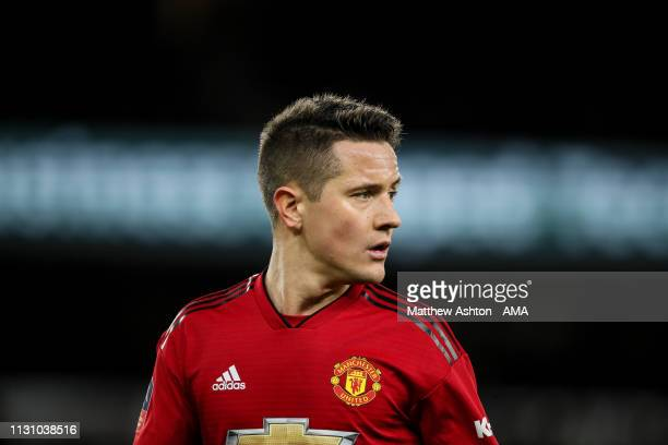 Ander Herrera of Manchester United during the FA Cup Quarter Final match between Wolverhampton Wanderers and Manchester United at Molineux on March...