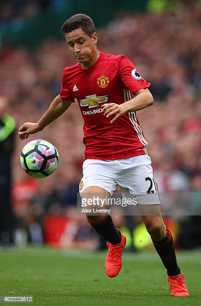 Ander Herrera of Manchester United during the Premier League match between Manchester United and Manchester City at Old Trafford on September 10 2016...