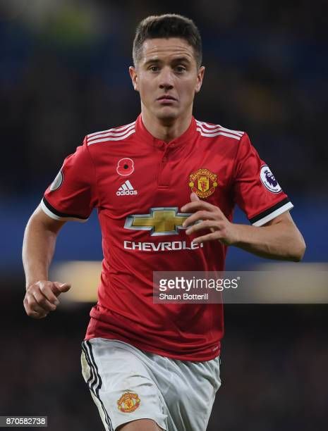 Ander Herrera of Manchester United during the Premier League match between Chelsea and Manchester United at Stamford Bridge on November 5 2017 in...