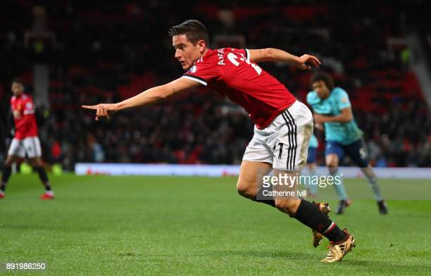Ander Herrera of Manchester United during the Premier League match between Manchester United and AFC Bournemouth at Old Trafford on December 13 2017...