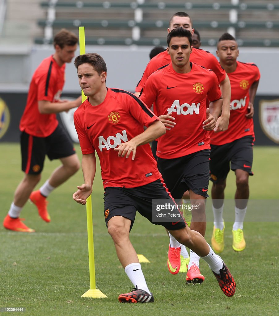 Ander Herrera of Manchester United in action during a training session as part of their pre-season tour of the United States on July 19, 2014 in Los Angeles, California.