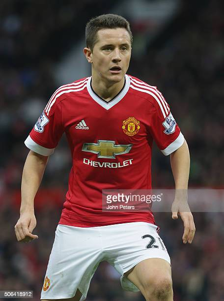 Ander Herrera of Manchester United in action during the Barclays Premier League match between Manchester United and Jose Fonte at Old Trafford on...