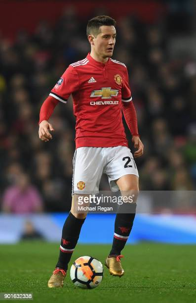 Ander Herrera of Manchester United in action during the FA Cup 3rd round match between Manchester United and derby County at Old Trafford on January...