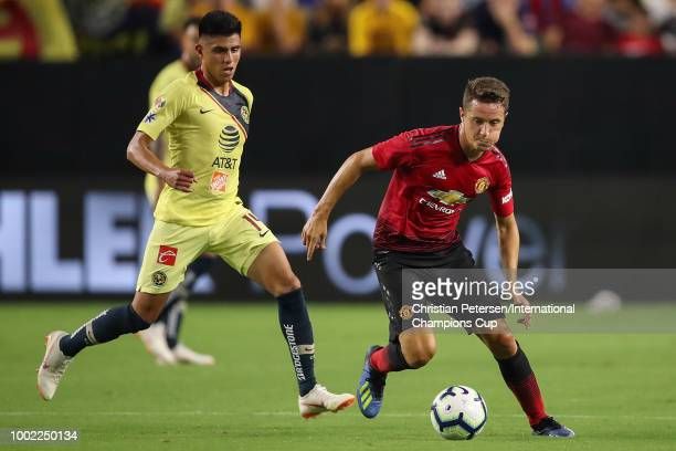 Ander Herrera of Manchester United in action during the International Champions Cup game at the University of Phoenix Stadium on July 19 2018 in...