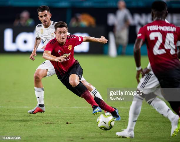 Ander Herrera of Manchester United in action during the International Champions Cup match against Real Madrid at Hard Rock Stadium on July 31 2018 in...