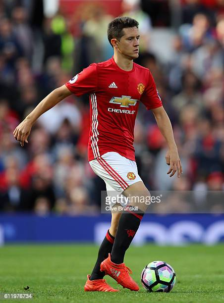 Ander Herrera of Manchester United in action during the Premier League match between Manchester United and Stoke City at Old Trafford on October 2...