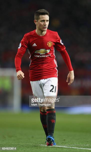 Ander Herrera of Manchester United in action during the Premier League match between Manchester United and Watford at Old Trafford on February 11...