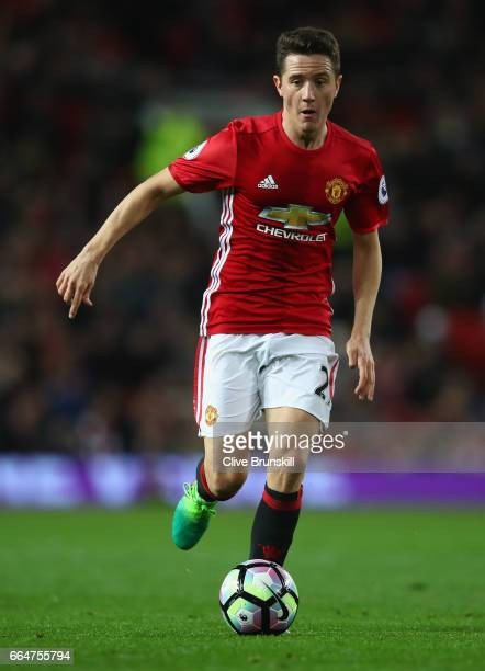 Ander Herrera of Manchester United in action during the Premier League match between Manchester United and Everton at Old Trafford on April 4 2017 in...