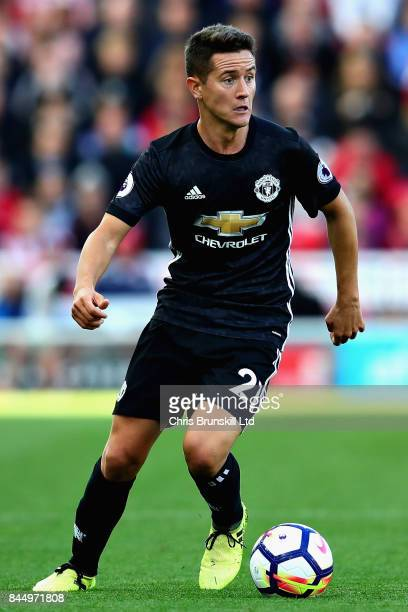 Ander Herrera of Manchester United in action during the Premier League match between Stoke City and Manchester United at Bet365 Stadium on September...