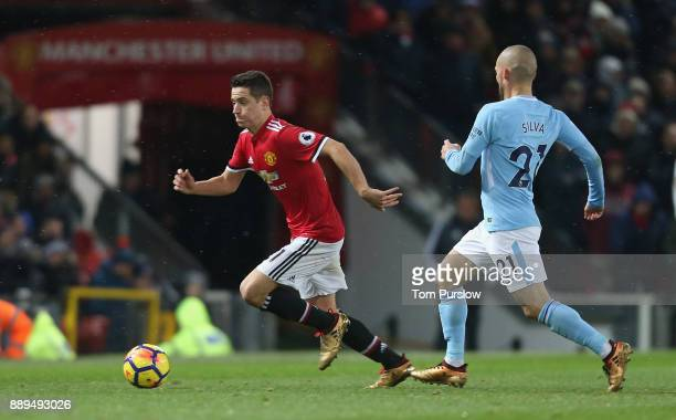 Ander Herrera of Manchester United in action during the Premier League match between Manchester United and Manchester City at Old Trafford on...