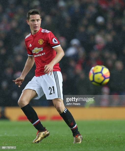 Ander Herrera of Manchester United in action during the Premier League match between Manchester United and AFC Bournemouth at Old Trafford on...