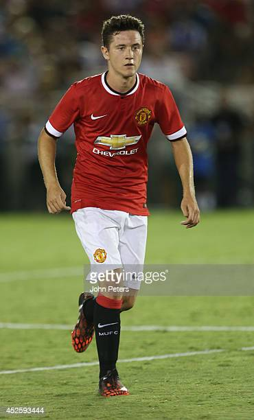 Ander Herrera of Manchester United in action during the preseason friendly match between LA Galaxy and Manchester United at Rose Bowl on July 23 2014...