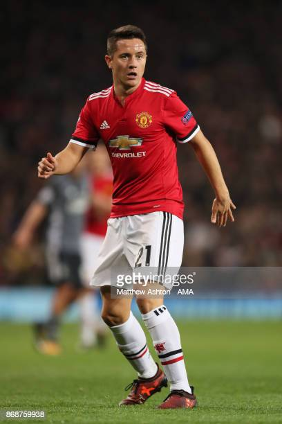 Ander Herrera of Manchester United in action during the UEFA Champions League group A match between Manchester United and SL Benfica at Old Trafford...