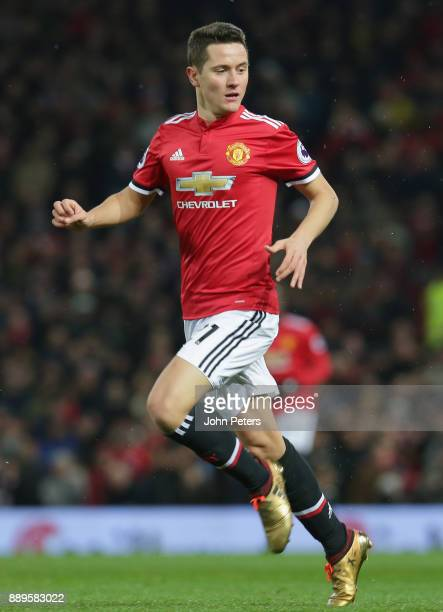 Ander Herrera of Manchester United in action with Nicolas Otamendi of Manchester City during the Premier League match between Manchester United and...