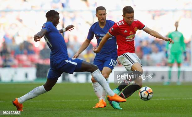 Ander Herrera of Manchester United in action with Tiemoue Bakayoko of Chelsea during the Emirates FA Cup Final match between Manchester United and...