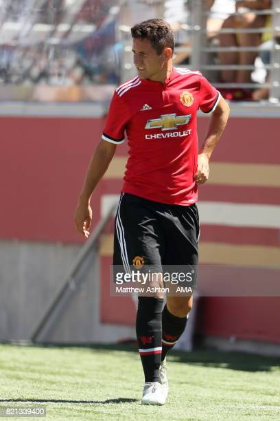 Ander Herrera of Manchester United leaves the game with an injury during the International Champions Cup 2017 match between Real Madrid v Manchester...