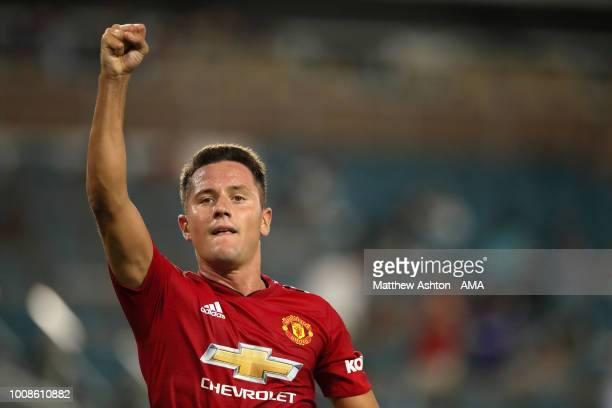Ander Herrera of Manchester United of Manchester United celebrates after scoring a goal to make it 2-0 during the International Champions Cup 2018...