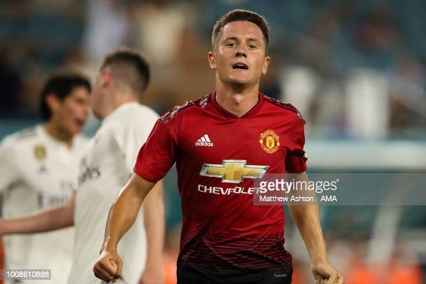 Ander Herrera of Manchester United of Manchester United celebrates after scoring a goal to make it 20 during the International Champions Cup 2018...